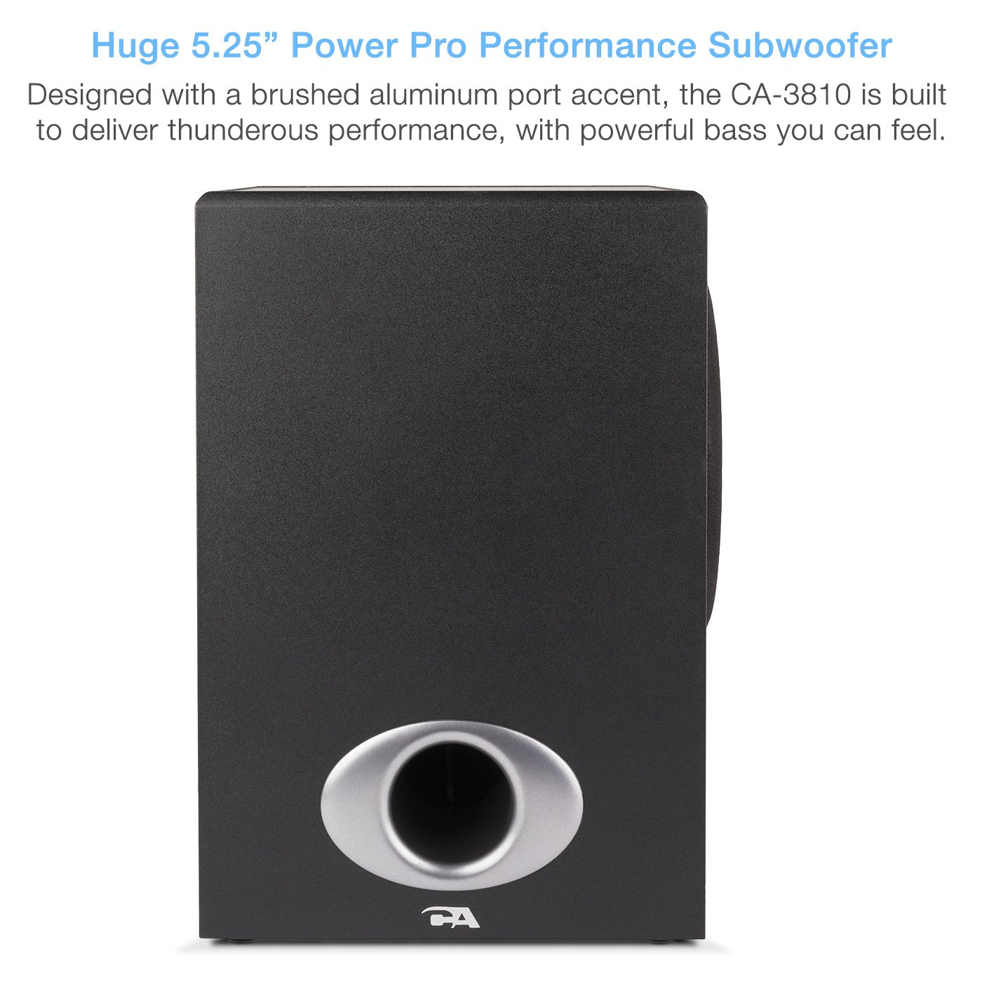 Cyber Acoustics High Power 2.1 Subwoofer Speaker System with 80W of Power – Perfect for Gaming, Movies, Music, and Multimedia Sound Solutions (CA-3810) by Cyber Acoustics (Image #4)