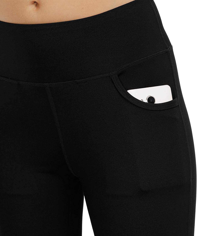 HMIYA Bootcut Yoga Pants with Inner Pocket for Women High Waist Work Pants Tummy Control,Long Bootleg Flare Pants
