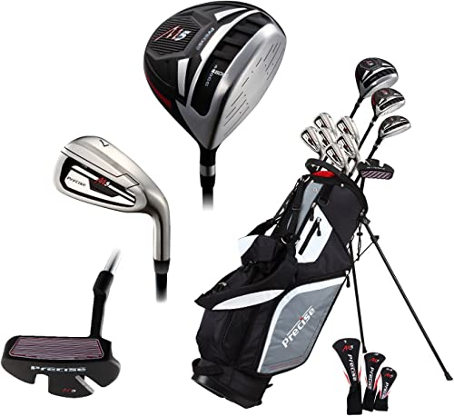 14 Piece Men s All Graphite Senior Complete Golf Clubs Package Set Titanium Driver, Fairway, Hybrid, S.S. 5-PW Irons, Putter, Stand Bag – A Flex SHAFTS