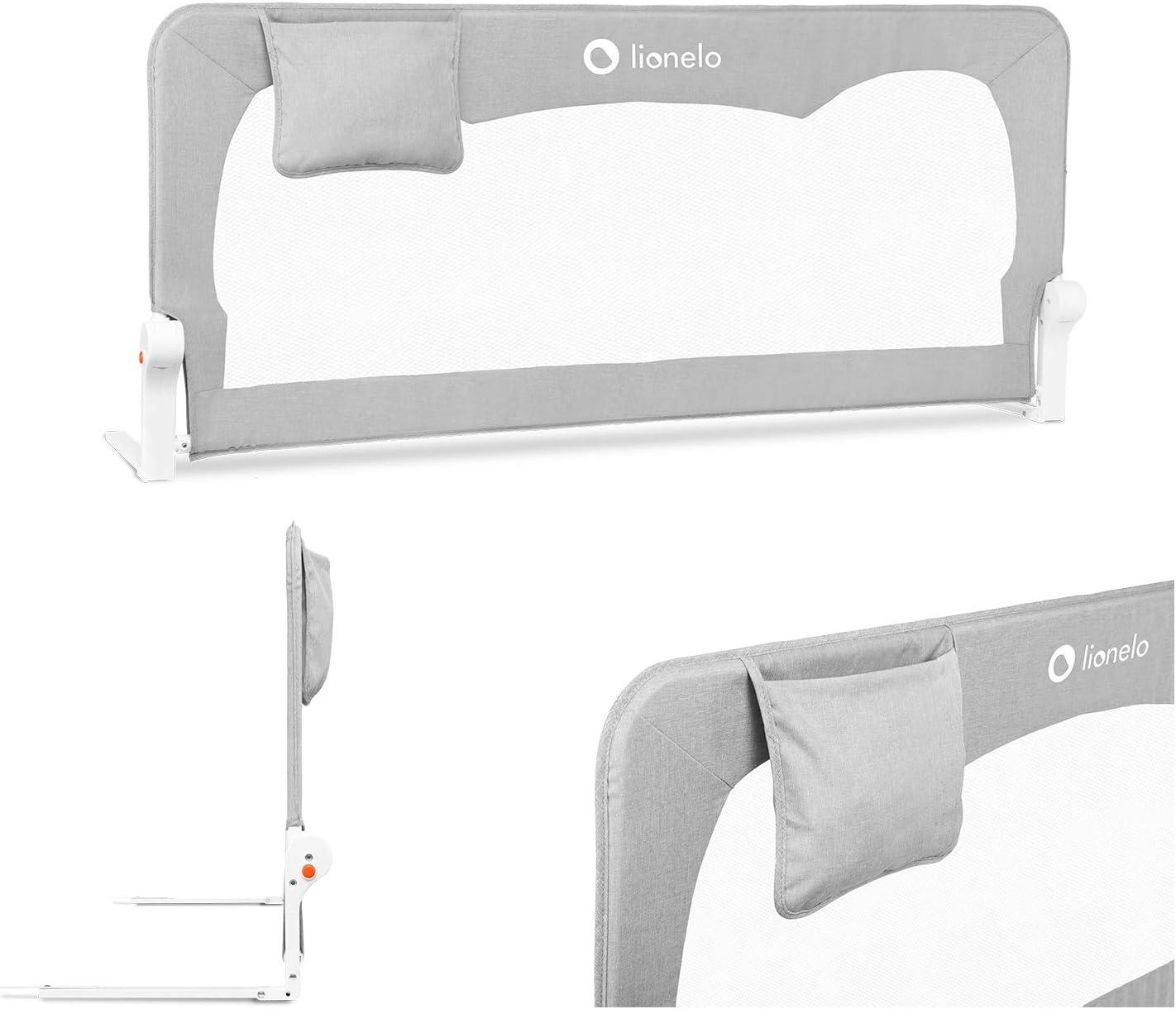 Lionelo Hanna Barrera de seguridad - Protección contra caídas 150 x 35 x 66 cm Cinturones SecureBelt Se adapta a la mayoría de los colchones Malla ...