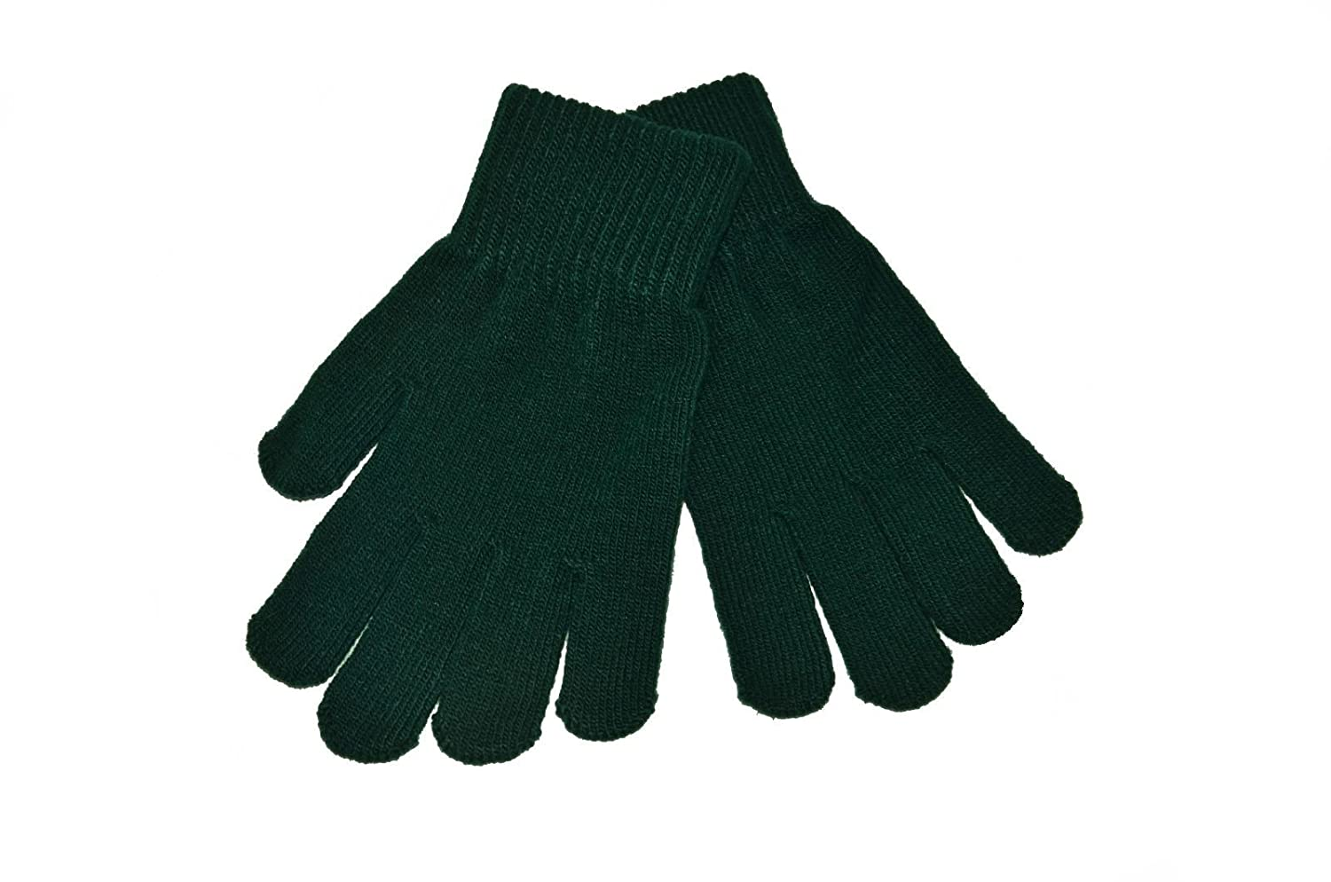 Childs Knitted Stretch Gloves, Black, 3/7 years