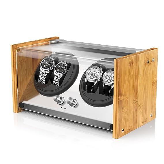 dc2339987 Expositor de relojes Watch Winder Smith® para 4 relojes, 5 modos, motor muy