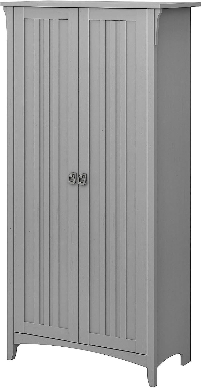 Bush Furniture Salinas Bathroom Storage Cabinet with Doors in Cape Cod Gray