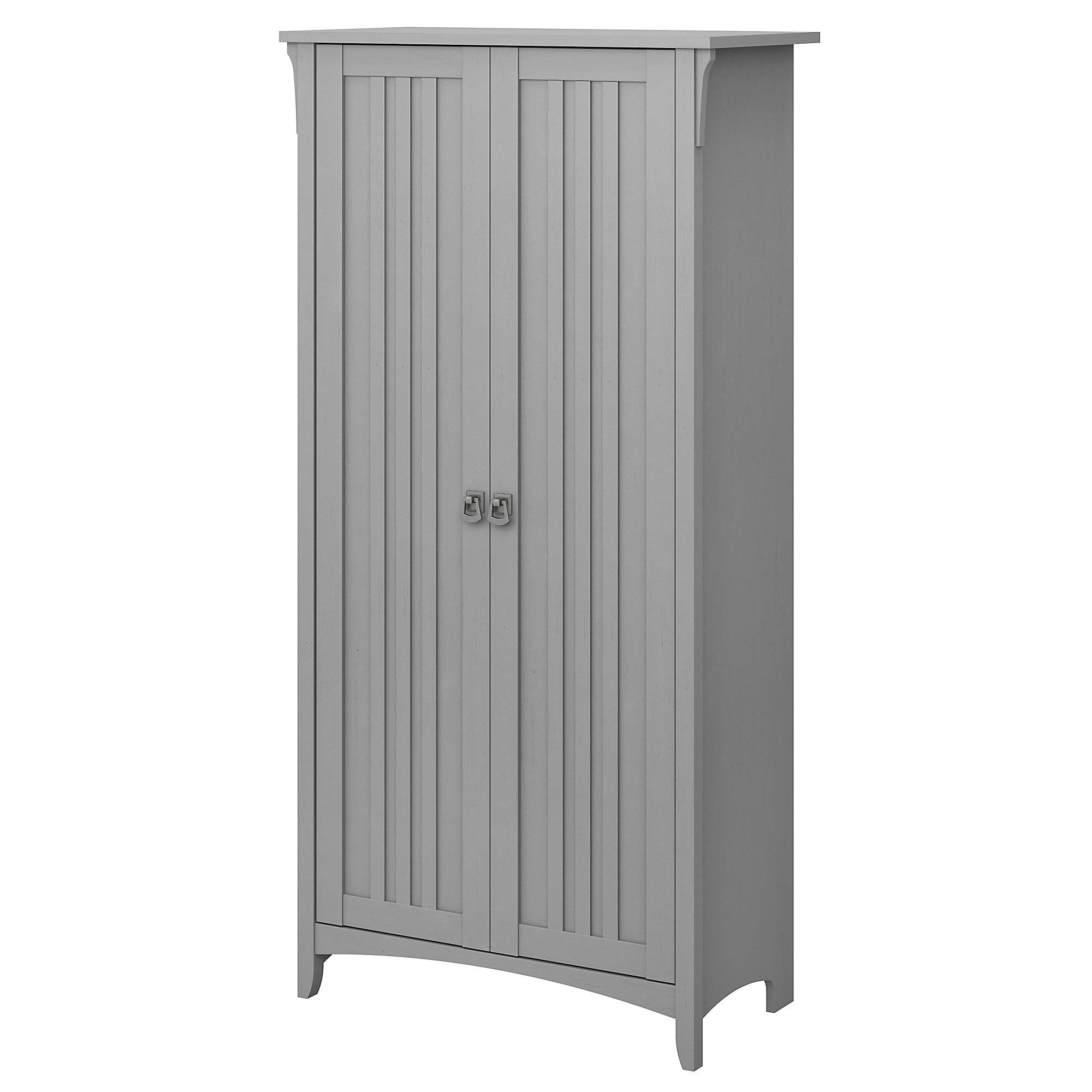 Bush Furniture Salinas Kitchen Pantry Cabinet with Doors in Cape Cod Gray by Bush Furniture