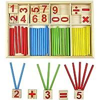 Bloques de madera de juguete, juguetes educativos Montessori