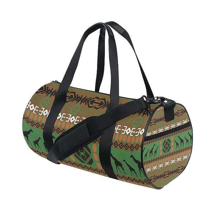 AHOMY Sports Gym Bag Africa Art Pattern Duffel Bag Travel Shoulder Bag