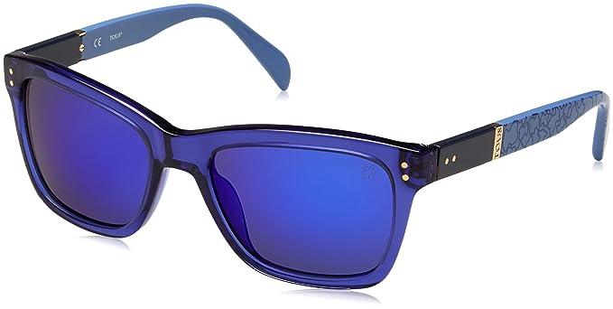 Tous STO835-53955B, Gafas de Sol para Mujer, Shiny Transp.Blue,