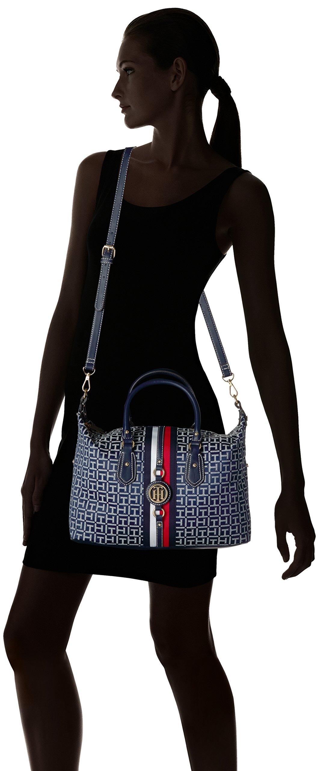 Tommy Hilfiger Handbag for Women Jaden Satchel, Navy/White by Tommy Hilfiger (Image #6)