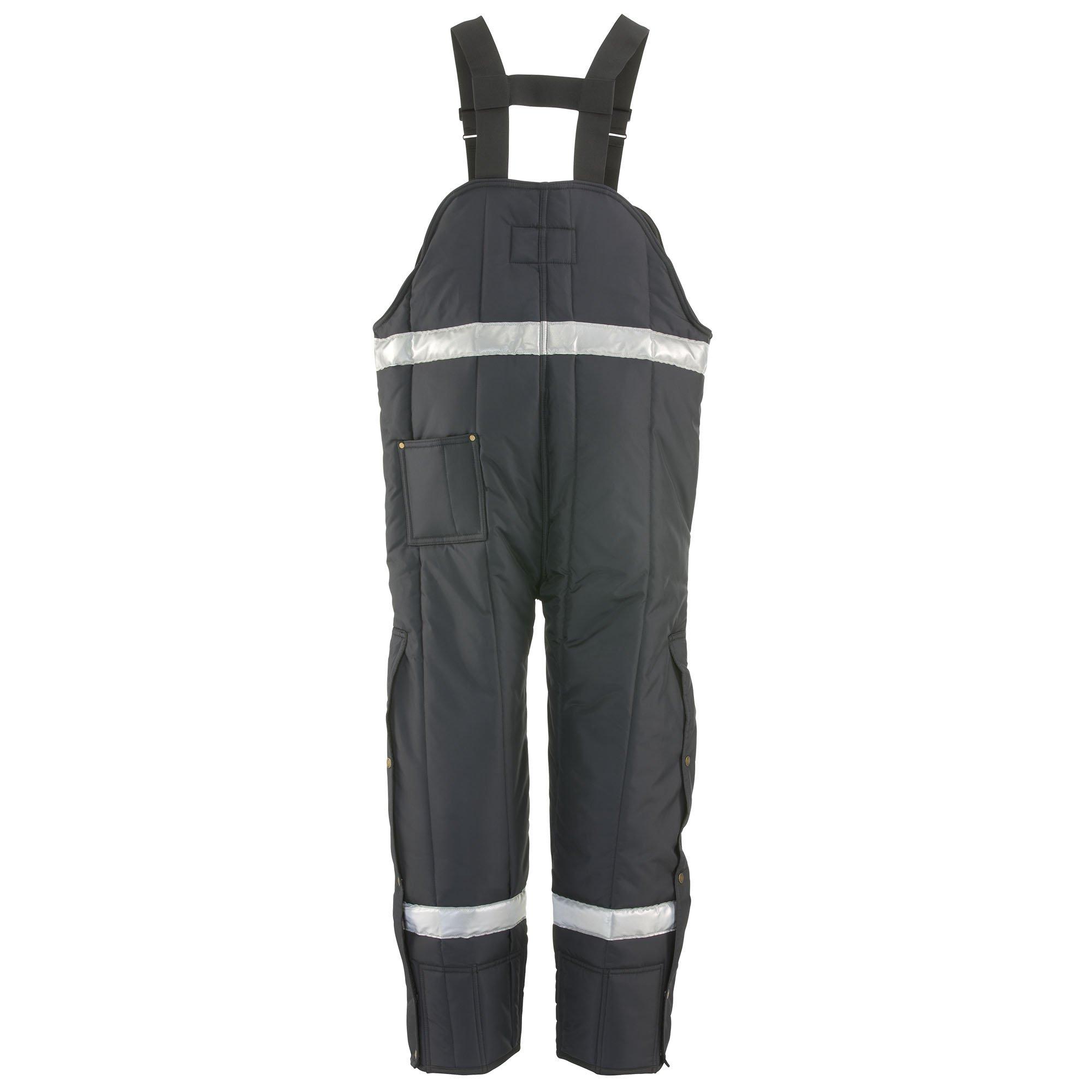 RefrigiWear Men's Iron-Tuff Enhanced Visibility High Bib, Navy, 3XL Short by Refrigiwear (Image #2)