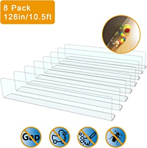 QIYIHOME 8-Pack Toy Blocker, Gap Bumper for Under Furniture, BPA Free Safe PVC with Strong Adhesive, Stop Things Going Under Sofa Couch or Bed, Easy to Install