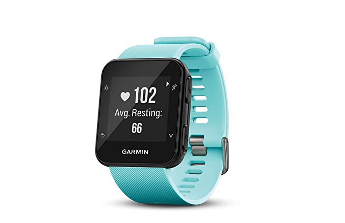 amazon com garmin forerunner 35 watch frost blue cell phones