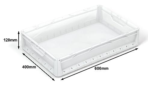 5 X 24 Liter Euronorm Industrie Kunststoff Stapeln, Euro Aufbewahrung  Container Boxen Kisten Klar