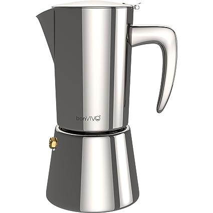bonVIVO® Intenca, Espressokocher aus Edelstahl In Chrom-Optik, Für Vollmundigen Espresso, Klassischer Cafe Maker, Inhalt: Was