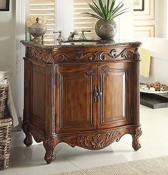 32u201d Traditional Style Fiesta Bathroom Sink Vanity Cabinet CF 2873SB TK