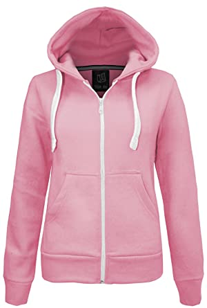 CANDY FLOSS LADIES HOODIE SWEATSHIRT FLEECE JACKET TOP SIZE 8-20 ...