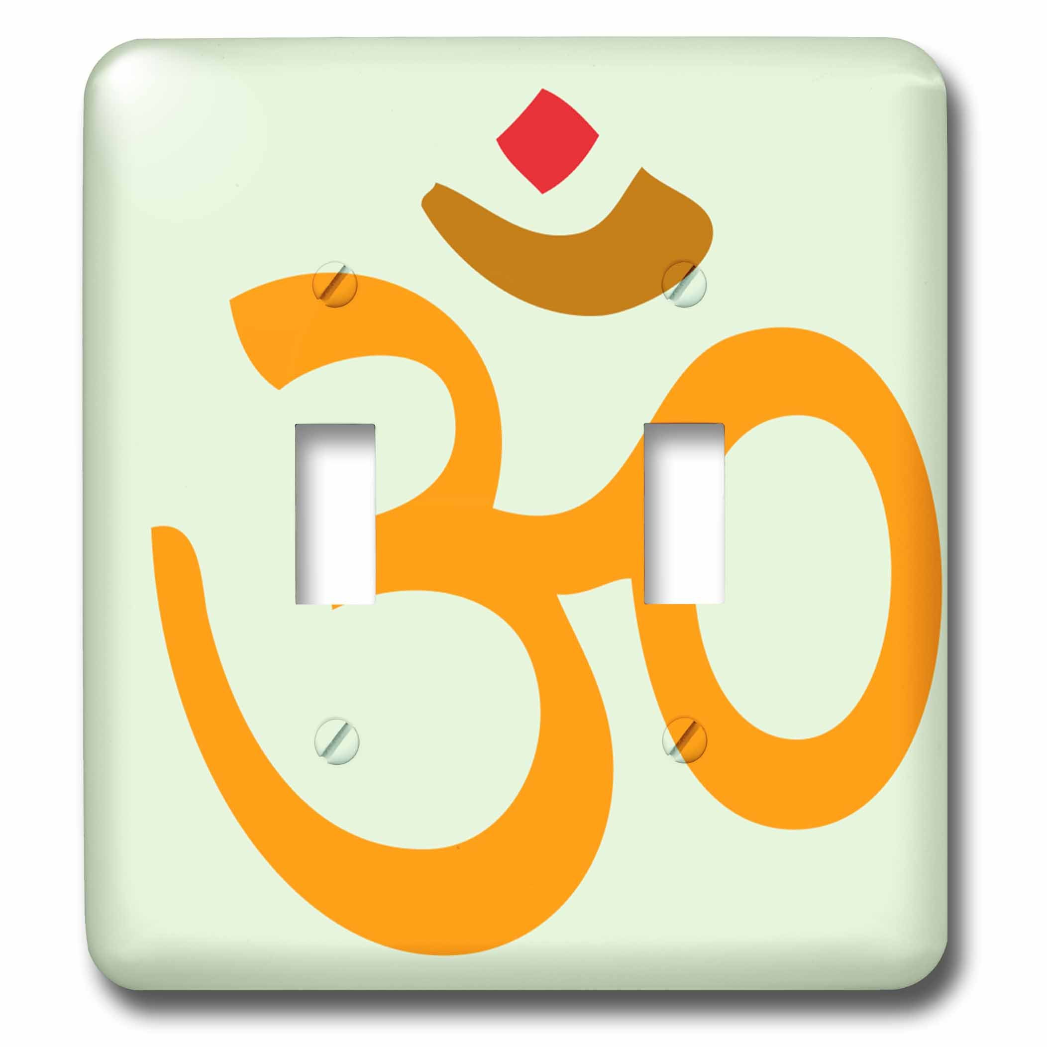 3dRose (lsp_254239_2) Double Toggle Switch (2) Namaste Hindu Indian India Hello Friend Quotes Symbol