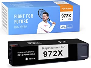 myCatrtidge PHOEVER Remanufactured Ink Cartridge Replacement for HP 972X 972 X 972A High Yield Ink for PageWide Pro 477dw 577dw 477dn 452dw 452dn 577z 552dw Printer (Black,1-Pack)