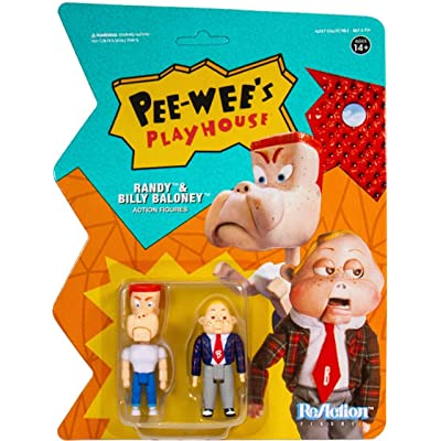Super7 Reaction Pee Wees Playhouse Randy & Billy Baloney Action Figure: Toys & Games