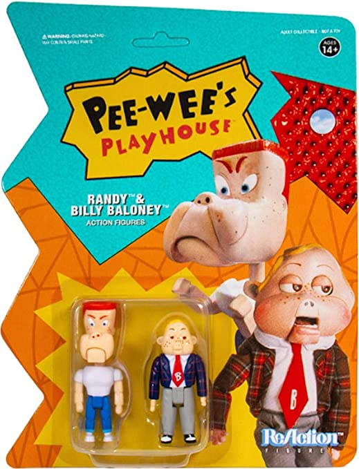 Super7 ReAction Pee-Wee/'s Playhouse Randy /& Billy Baloney Action Figure