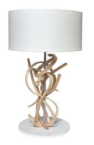 conception de la variété couleur n brillante nouvelles images de Lampe de table design en bois et abat jour blanc Emma ...
