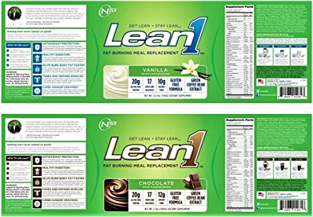 Nutrition 53 Lean1 Vanilla and Chocolate Set, Lactose Free Protein Powder, 23 Serving Per Tub- 2.6 lbs and 3 lbs