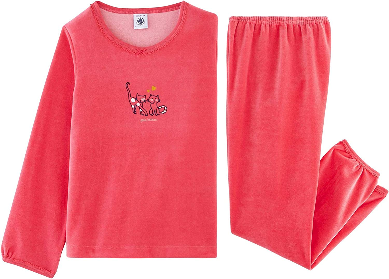 Petit Bateau M/ädchen Zweiteiliger Schlafanzug