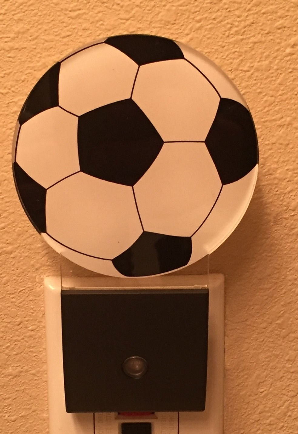 LED Soccer Night Light- Plug In for Safety, Soothing, Calming Nights Good for Kids & Adults Automatic
