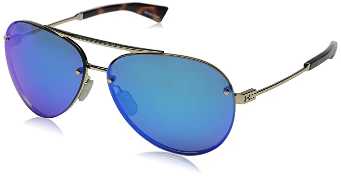 f26ebaa0c1b Image Unavailable. Image not available for. Color  Under Armour Double Down  8600083-949661 Aviator Sunglasses