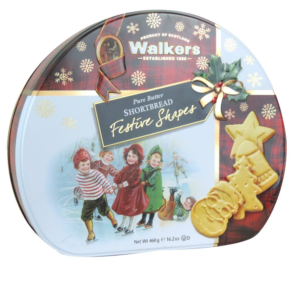 Walkers - Pure Butter Shortbread Festive Shapes - 460g (Case of 6)