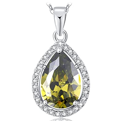 NEEMODA Angel Tears Luxury 5A Cubic Zirconia Necklace with Gift Box, 18 inches + 2 inches Chain