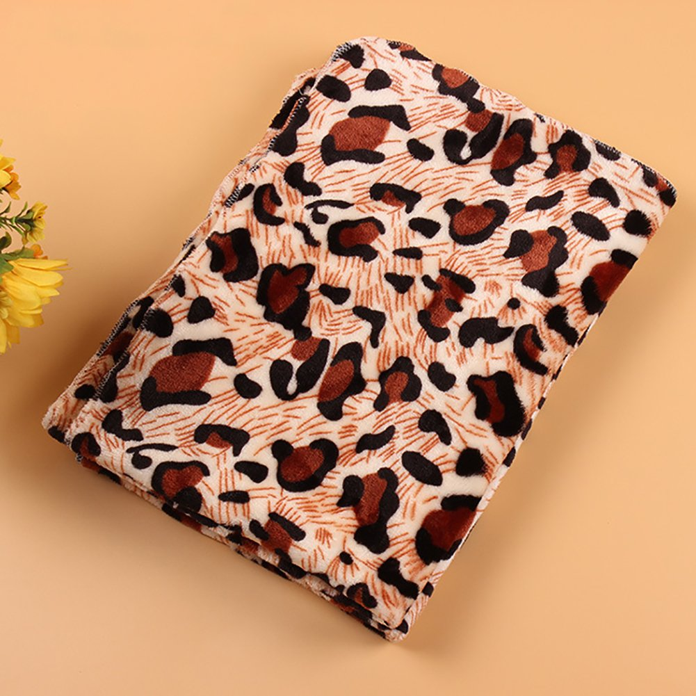 Leosi Puppy Blanket Ultra Soft Coral Fleece Thin Cozy Blanket Bed Kennel Cover Dog Puppy Cat Warm Bed Mat Cushion 50X80CM//19.7x31.5 Inch ,Beige Star M