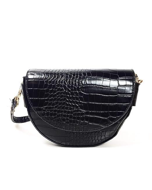 1b3ffc29d5e Mango Women Croc-effect bag 43070705: Amazon.ca: Clothing & Accessories