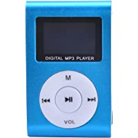 (Blue) - Blue Mini MP3 Player Clip USB FM Radio LCD Screen Support for 32GB Micro SD