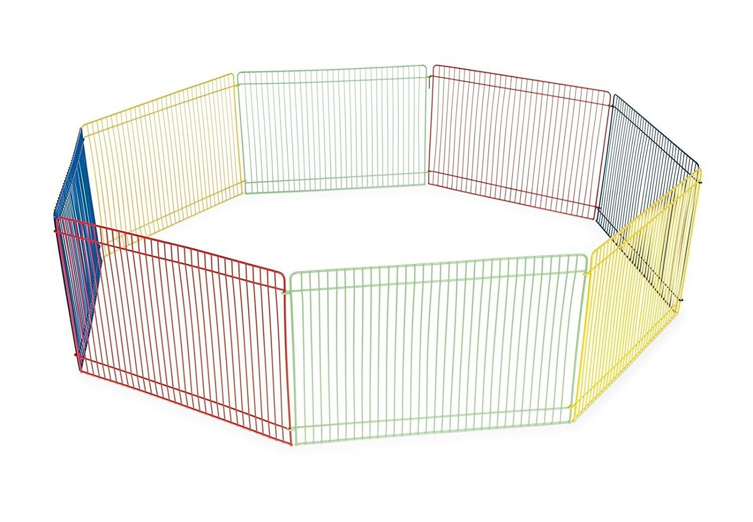 WOWOWMEOW Small Pet Multi-Color Playpen Portable Fence for Hamster, Chinchillas and Guinea-Pigs by WOWOWMEOW