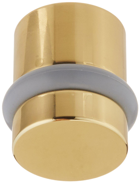 Baldwin Estate 4505.030 Modern Floor Bumper in Polished Brass, 1.18'' Diameter
