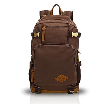 FANDARE Clásico Vintage al Aire Libre Viajes de Senderismo Mochila Escuela Colegialidad Daypacks portátil Bolsa de Lona Ligero Durable Plegable Plegable ...