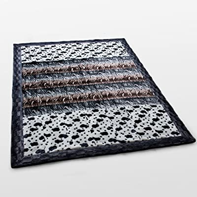 Onitiva - [Tasteful Life -B] Patchwork Throw Blanket (86.6 by 63 inches)