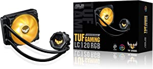 ASUS TUF Gaming LC 120 RGB All-in-one Liquid CPU Cooler (Aura Sync,TUF 120mm RGB Radiator Fans with Fan Blade Groove Design)