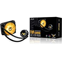 ASUS TUF Gaming LC 120 RGB all-in-one liquid CPU cooler (Aura Sync,TUF 120mm RGB radiator fans with fan blade groove…