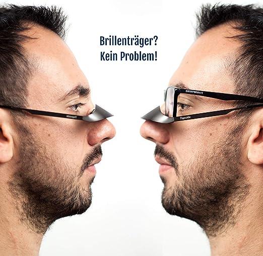 TOPSIDE Gafas asegurar Escalada: Montura Ligera de Acero, Prisma (BK7) y Total Transparencia Usar sobre Tus Gafas