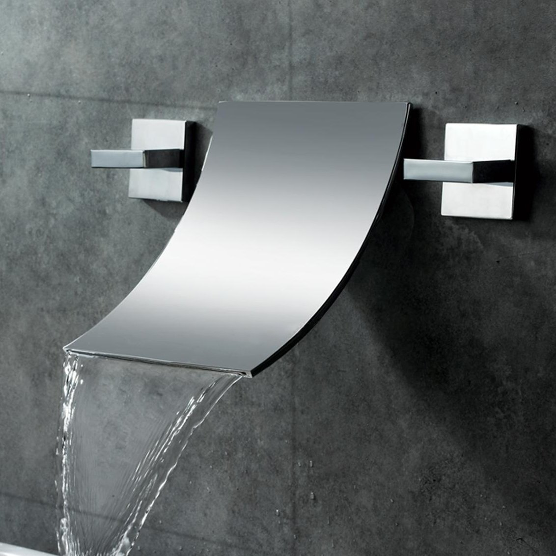 JiaYouJia Waterfall Wall-mounted Bathroom Sink Faucet by JiaYouJia