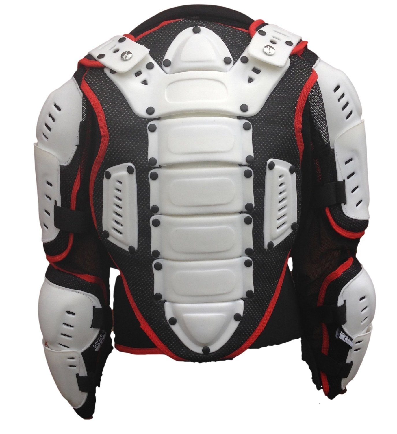 10 Years Kids Mx Body Armour Quad Pit Bike Spine Chest Safety Protective Jacket White//Red