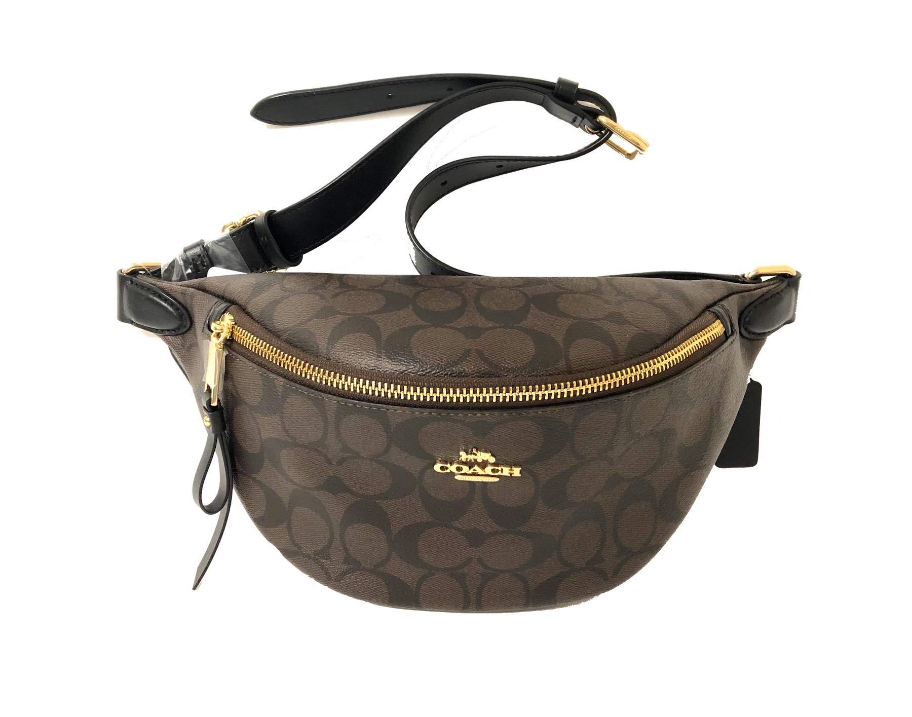 Coach Signature Belt Bag F48740 IMAA8 Brown/Black