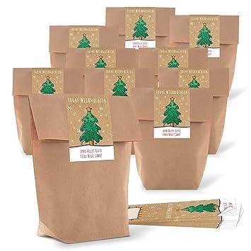100 Kleine bio de bolsas de papel marrón natural papel de ...