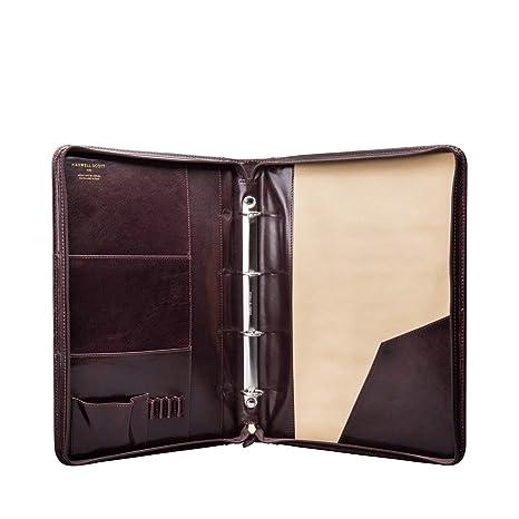 Maxwell Scott® personalizado lujo carpeta de conferencia de piel con anillas (la Veroli)