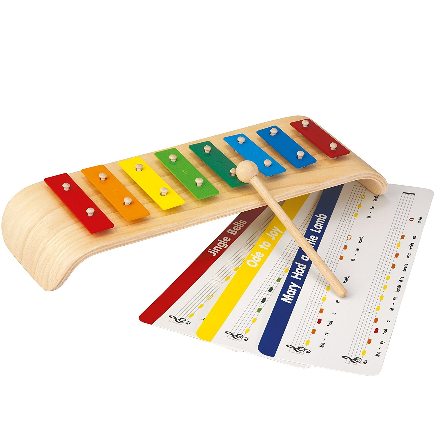 Eight Colored Bars Melody Xylophone Toy for 3 Years and Above