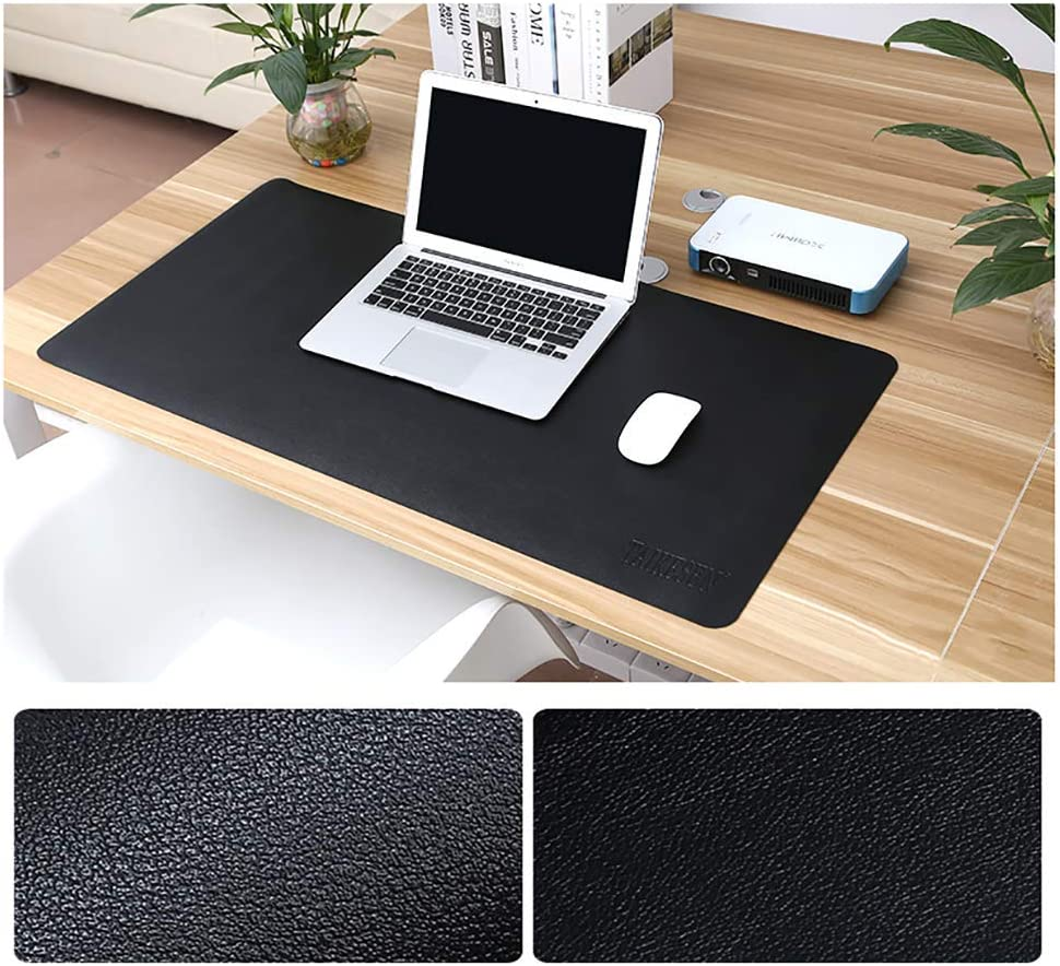 Pu Leather Desk Mouse Pad Laptop Mouse Pads Mat Waterproof Oversized Gaming Mouse Pad-k 130x65cm 51x26inch AMYDREAMSTORE Multifunctional Extended Office Desk Mat