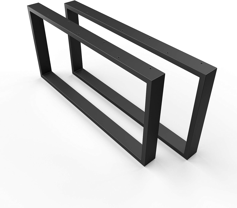 Bastidor/estructura para la mesa Sossai Basic / 2 piezas (pareja) / material: acero/ancho 60 cm x altura 40 cm/Sossai CKK1-BL6040-2 / color: negro (con recubrimiento de polvo)