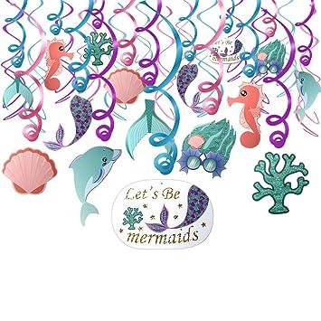 Konsait Decoraciones de Remolino de Sirena (30 Pack), Tema ...