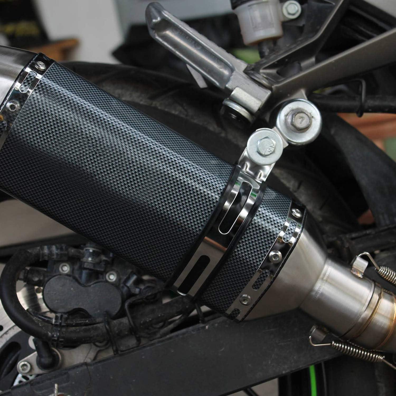 liujiao-Black Motorcycle Slip On Exhaust System Carbon Fiber Muffler Pipe Universal for 38-51mm Street Sport bike DB Killer